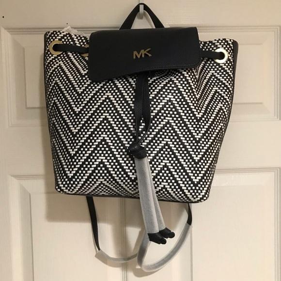 NWT Michael Kors Junie Medium Leather Backpack
